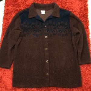 wine and blue 5-button sweater for men size: XL